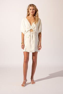 Cruz Balloon Sleeve Mini Dress