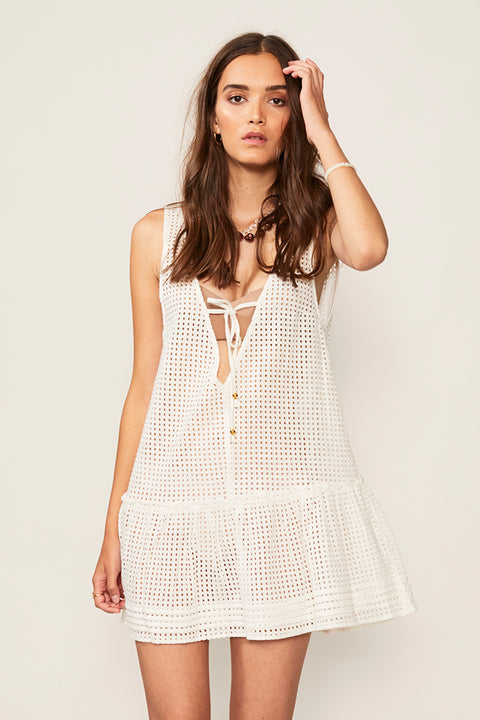 Edie Ruffle Lace Coverup