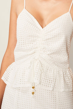 Edie Ruffle Lace Dress