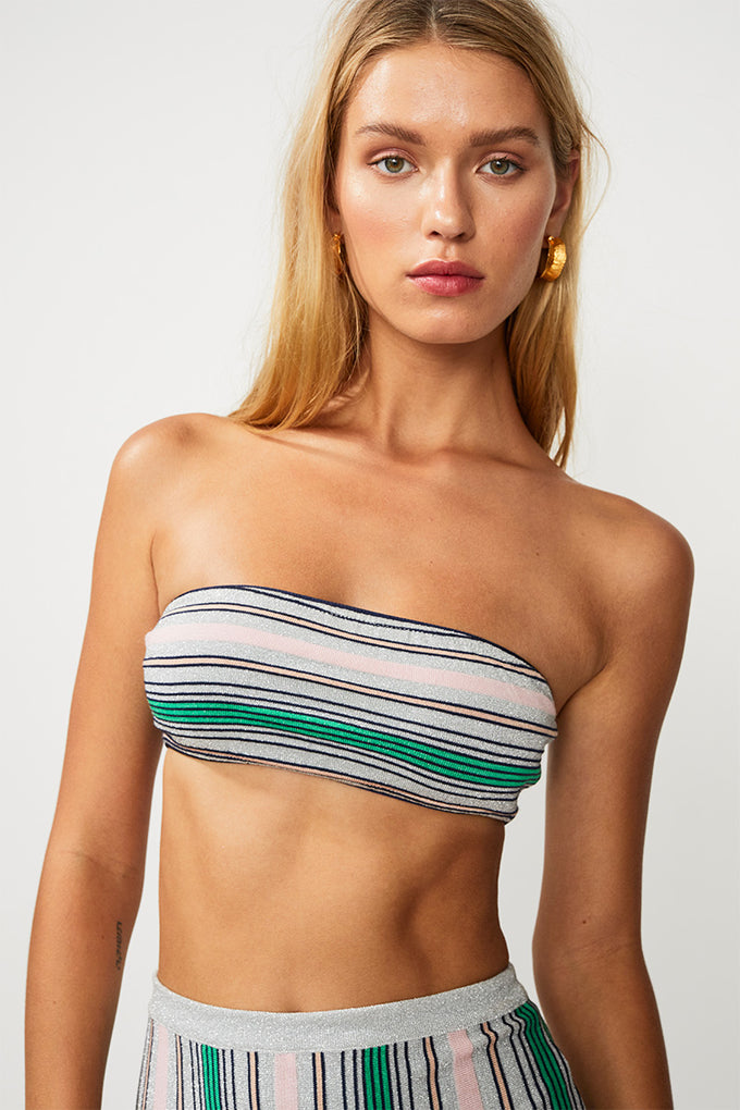 Elvira Knit Stripe Bandeau - Multi