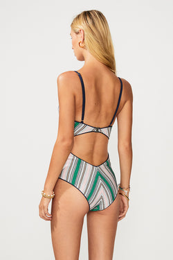 Elvira Knit Stripe One Piece - Multi