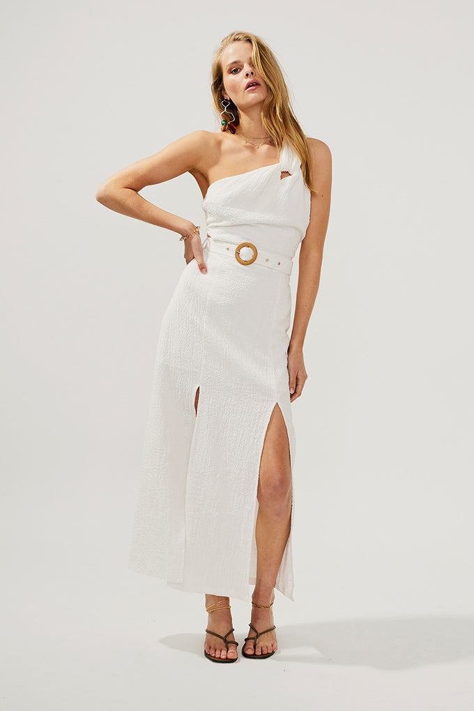 Faith Twist Maxi Dress-Ivory