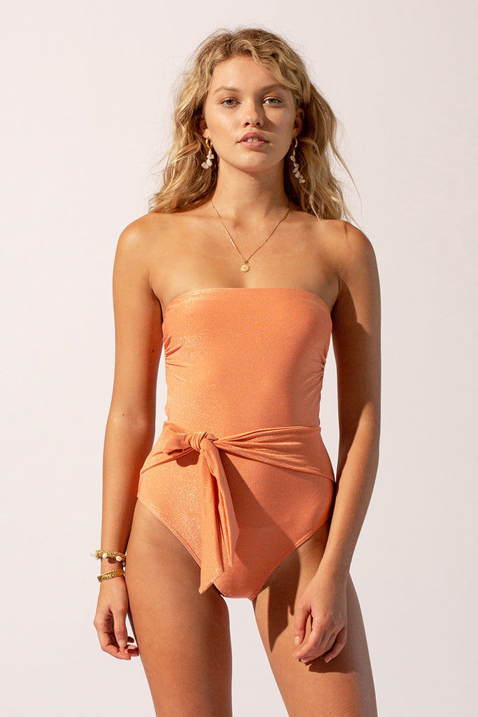 Farrah Tie Belt One Piece