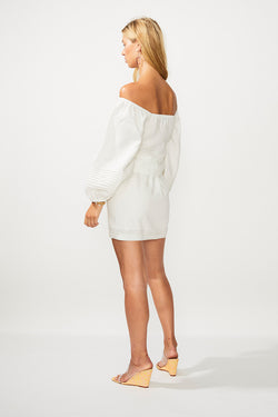 Gina Button Skirt - Ivory