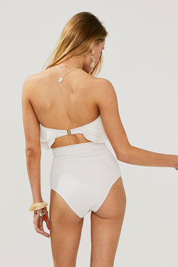 Kaia High Waisted Bottom - Ivory * PRE ORDER