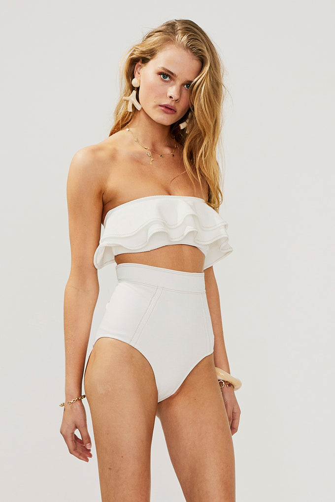 Kaia High Waisted Bottom - Ivory - PRE ORDER