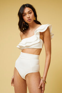Kaia High Waisted Bottom-Ivory *PRE-ORDER*