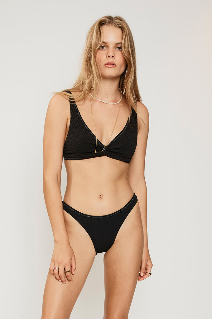 Kaia Slim Bottoms-Black