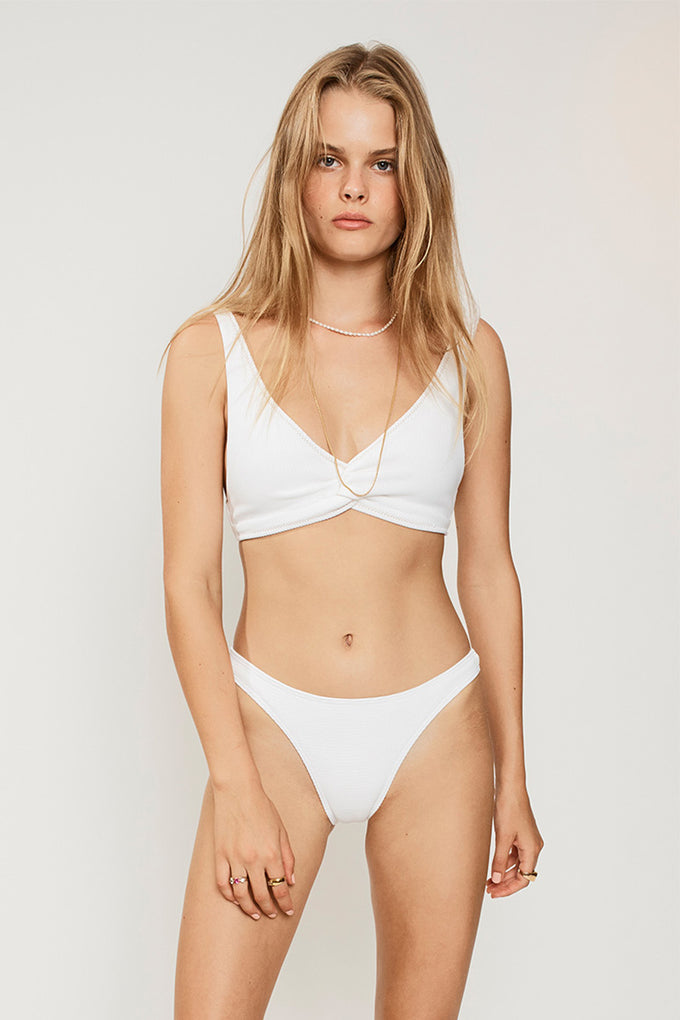 Kaia Slim Bottoms-Ivory