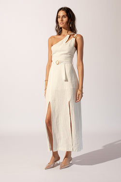 Kaia Asymmetrical Midi Dress