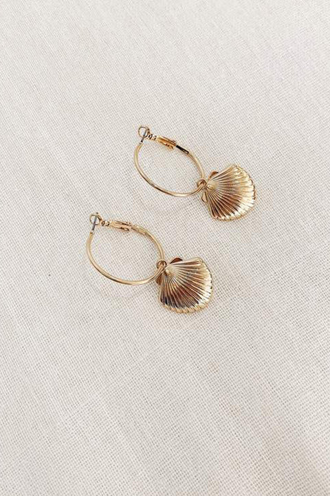 Kiana Shell Earrings - Gold