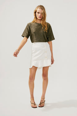 Lila Button Mini Skirt