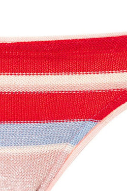 Midsummer Knitted Slim Bottoms - Pink/Red Stripe