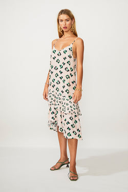 On The Fly Midi Slip Dress - Multi Print