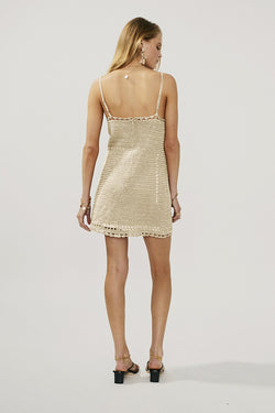 Pia Knit Eyelet Mini Dress