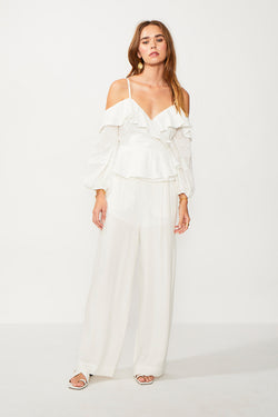 Sabina Off Shoulder Blouse - Ivory