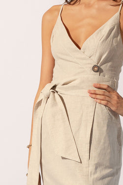 Sandy Midi Wrap Dress