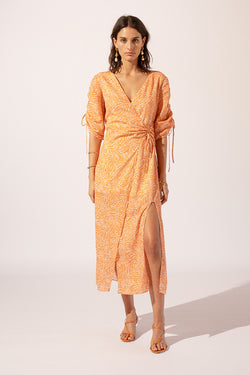 Sienna Wrap Sleeved Dress