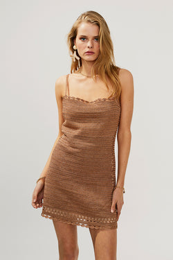 Simone Eyelet Mini Dress