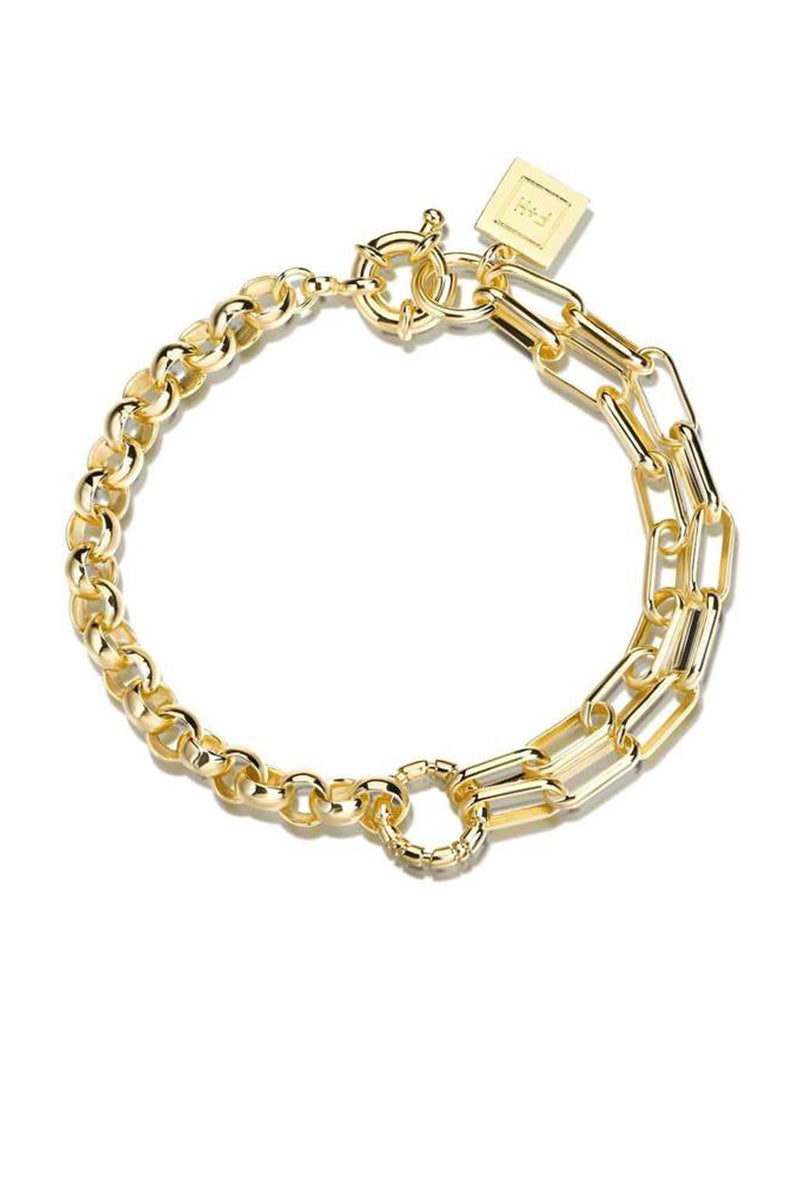 Slash Double Chain Bracelet