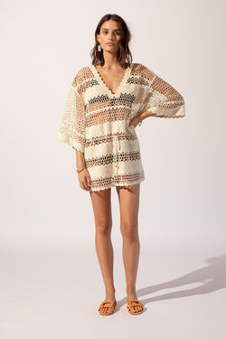 Stella Crochet Kaftan Dress