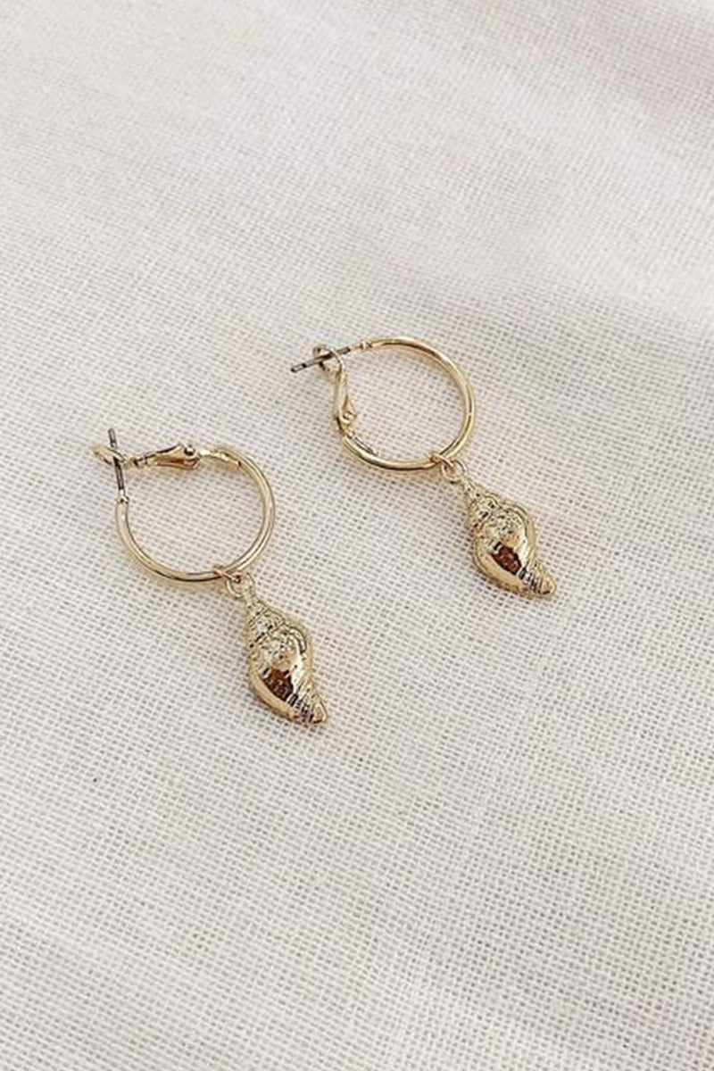 Toa Shell Earrings - Gold