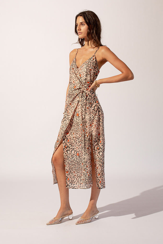Uma Gathered Slip Dress