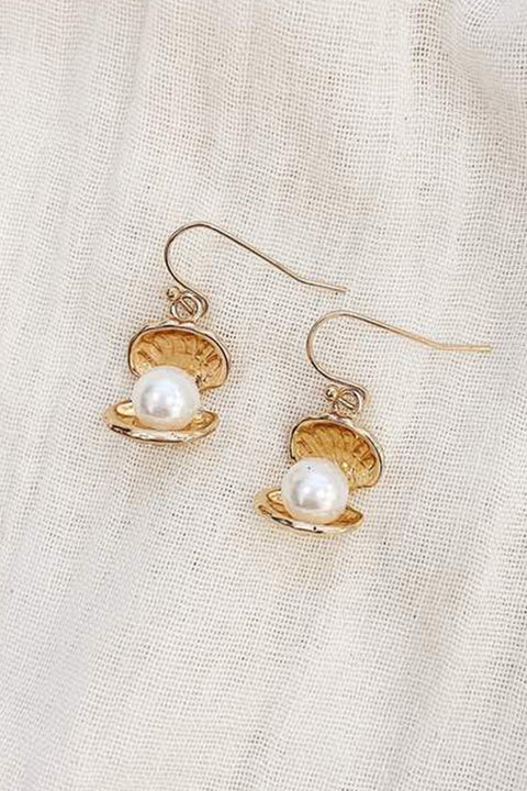 Venus Pearl Earrings - Gold