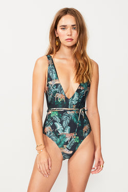 Xenia Belted One Piece - Xenia Print