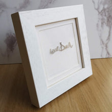 loved one's handwriting framed