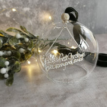 Luxury Keepsake Memorial Handwriting Bauble Decoration