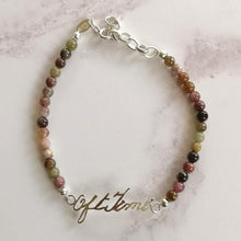 Mixed Tourmaline Handwriting Bracelet