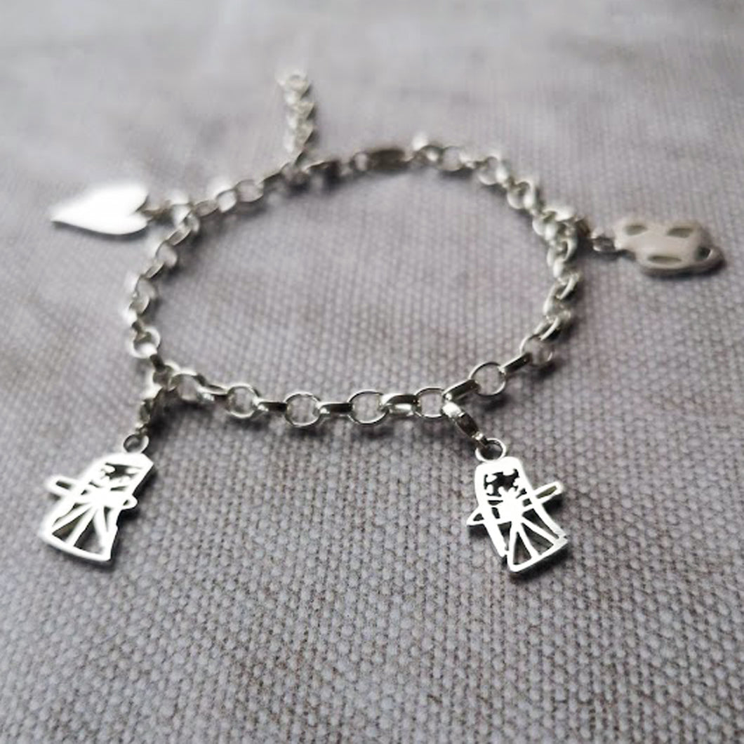 Childs Drawing Charm Bracelet