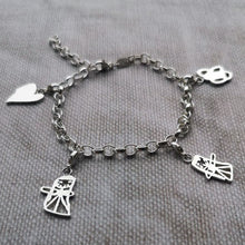 Childs artwork charm bracelet silver