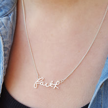 Personalised Handwriting Necklace in Sterling Silver