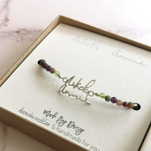 Mixed Gemstone Handwriting Bracelet