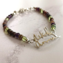 Peridot Handwriting Bracelet