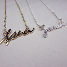 Gold Personalised Handwriting Jewellery