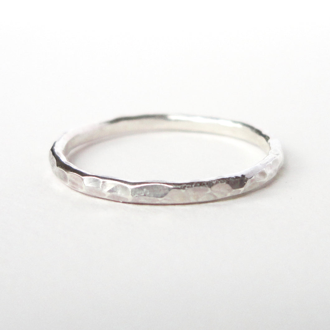 Dimpled Texture Stacking Ring