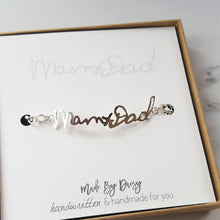 Actual handwriting bracelet in sterling silver