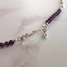 Amethyst handwriting bracelet