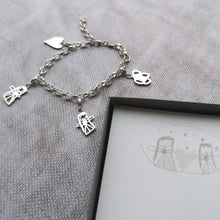 Personalised kids drawing charm bracelet