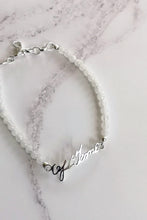 Actual Handwriting Bracelet with Moonstones