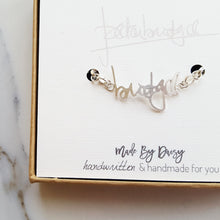 Actual handwriting bracelet memorial gift