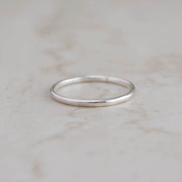 Smooth Silver Stacking Ring