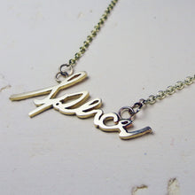 Yellow Gold Handwriting Necklace