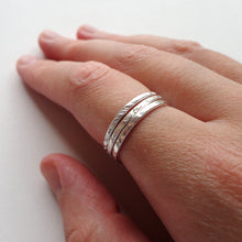 Stacking ring set in sterling silver