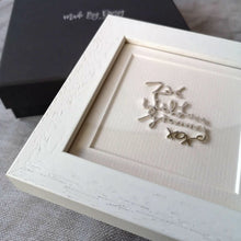 Framed Handwriting Memorial Keepsake in Sterling Silver