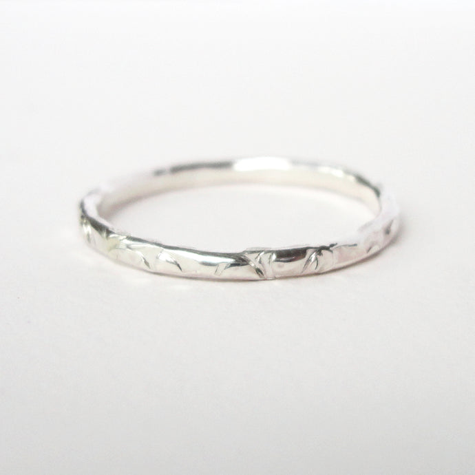 Cross Hatch Texture Stacking Ring
