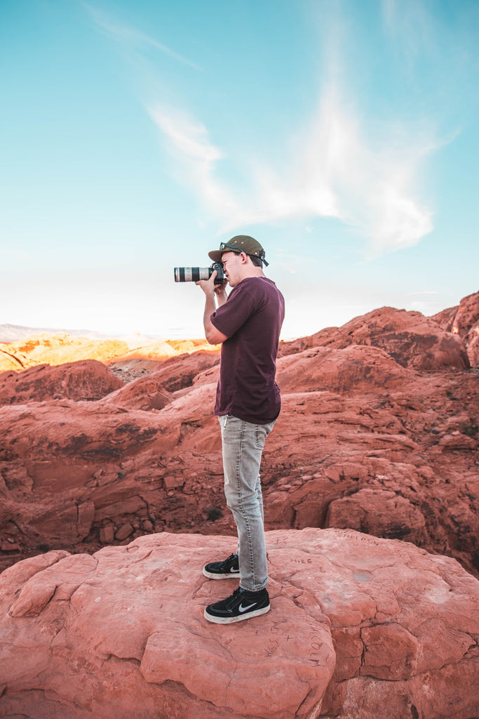 Photos at sunset valley of fire adventure USA travel